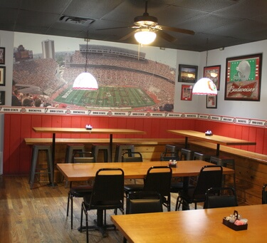 Schedule your next party in Gibbys Buckeye Room.