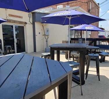 Gibbys patio to enjoy outdoors!
